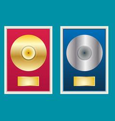 Flat vinyl disk vector