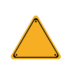 Warning blank sign icon vector