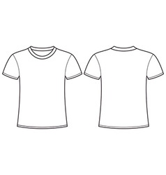 Blank t-shirt template front and back vector