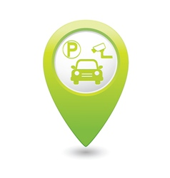parking place green map pointer vector image