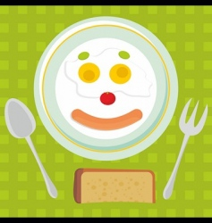 Fried eggs background vector