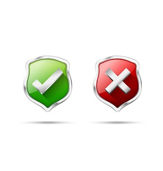 Right accept and wrong symbol protection shiled on vector