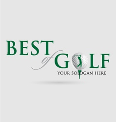 Best-of-golf vector