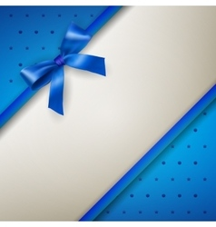Background with bow blue vector