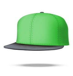 Layout of male green rap cap vector