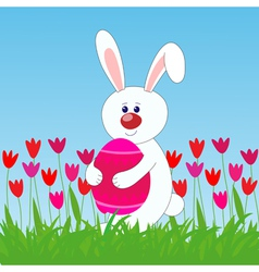 Rabbit easter egg vector