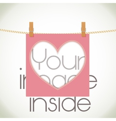 Heart shape frame vector