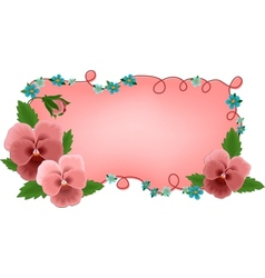 Banner or greetings card with flowers vector