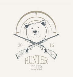A bear and a gun vector