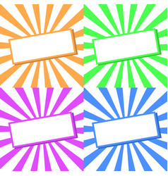 abstract background set simple vector image