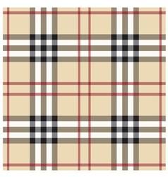 Beige Seamless Tartan Pattern vector image