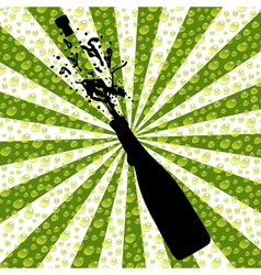 Celebration with champagne vector image vector image