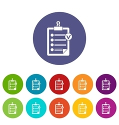 Check list set icons vector image vector image