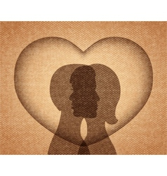 couple in love silhouettes vector image vector image