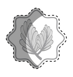 Emblem rustic leaves decoration design vector