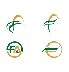 F letter faster logo template vector