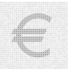 Gray abstract grid euro symbol vector