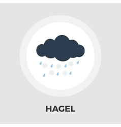 Hagel flat icon vector image