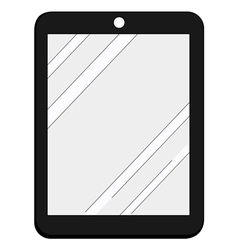 internet tablet vector image vector image