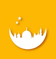 Islamic holiday background ramadan kareem vector