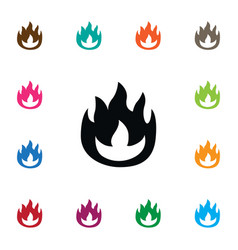 isolated fire icon flame element can be vector image