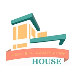 Logo of the villa rental sales and construction of vector