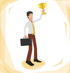 Man winner 380 vector image