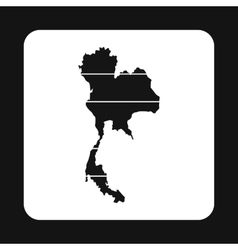 Map of thailand icon simple style vector