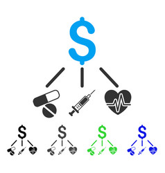Medical budget flat icon vector