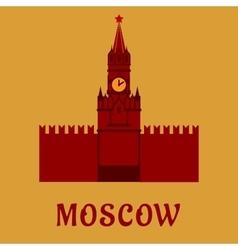 Moscow kremlin landmark flat symbol vector