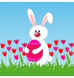 rabbit easter egg vector image