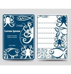 Sea food restaurant brochure template vector