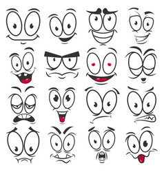 smile cartoon emoticons and emoji faces vector image vector image