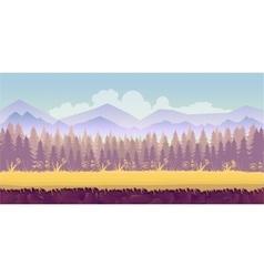 spring forest landscape never ending vector image