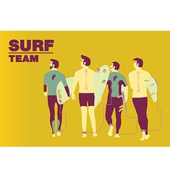 Surf team cover design vector