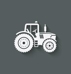 tractor silhouette icon vector image vector image