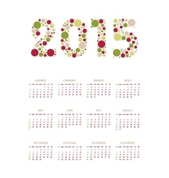 vertical calendar 2015 vector image
