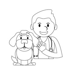 veterinarian doctor man vector image
