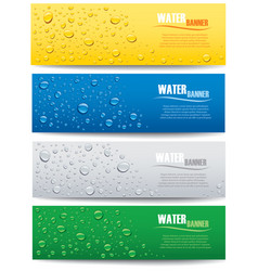 Water drops with place for text on different color vector