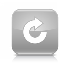Gray arrow repeat reload refresh rotation icon vector