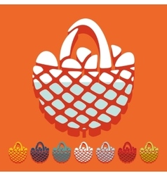 Flat design easter basket vector