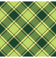 Green ireland plaid seamless fabric diagonal vector