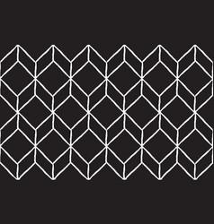 Rhombus hand draw seamless pattern white lines vector