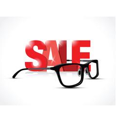Glasses sale sign vector