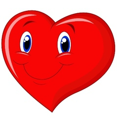 Red heart cartoon vector