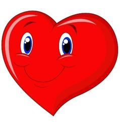 Red heart cartoon vector image