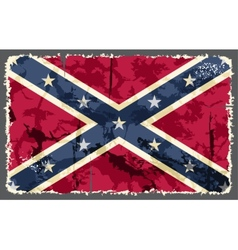 Confederate grunge flag vector