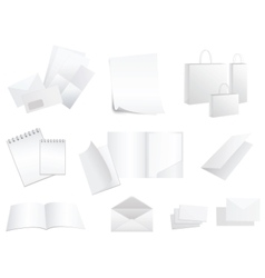 white paper products vector image