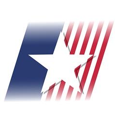 american flag star vector image