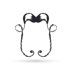 Black moustaches of handwork vector image